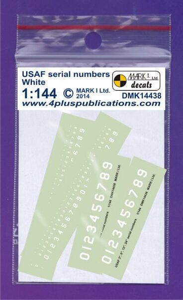 USAF Serial Number - White  DMK14438