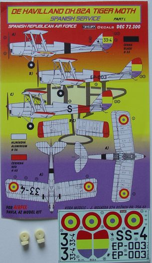 De Havilland DH82A Tiger Moth (Spanish Service) part 1; Nationalist AF  KDEC72300