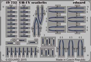 Detailset UH1Y  Seatbelts (Kitty Hawk)  E49-732