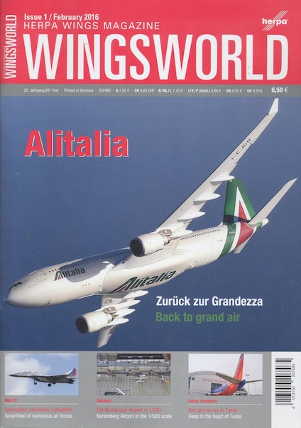 Herpa Wingsworld nr:1 Febr 2016  4013150207485