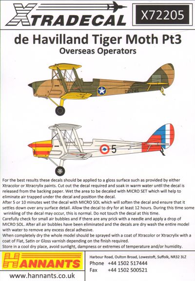 de Havilland DH.82A Tiger Moth Pt 3 Overseas Military Operators incl. Dutch Navy  X72205