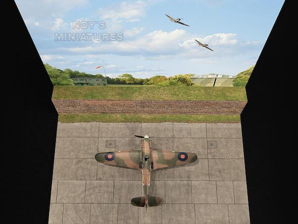 Battle of Britain Airfield Set V.1 (Brick Wall) with Bonus 3D Component  480171