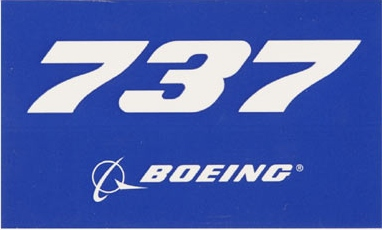 737 Blue Sticker  STICK 737 BLUE