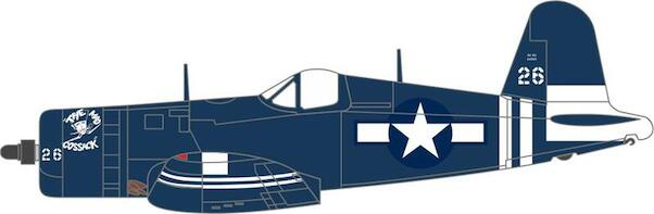Vought F4U-1D Corsair USMC VMF-512 USS Gilbert Islands 1945  AC104
