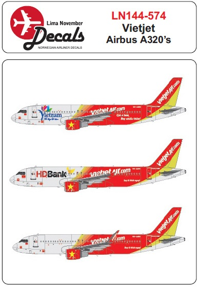 Airbus A320 (Vietjet 's HD Bank + Vietnam colours)  LN144-574