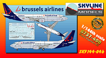 Boeing 737-400 (Brussels Airlines) Re-Edition  SKY144-04b