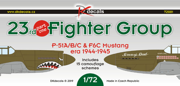 23rd Fighter Group Part 1 (P51A/B/C and F6C 1944-1945)  DK72081
