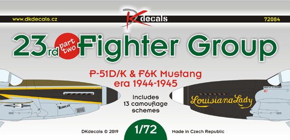 23rd Fighter Group Part 2  (P51D/K  and F6K 1944-1945)  DK72084