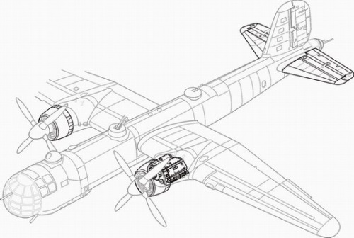 Heinkel He177 engine set (Revell)  CMKA7060