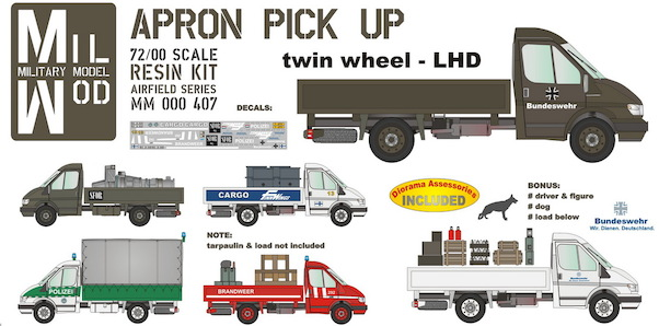 Ford Transit Apron Pick up twin wheel LHD (Luftwaffe, etc)  MM000-407