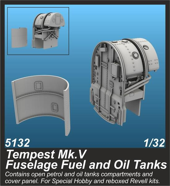 Tempest MKV Fuselage Fuel and oil tanks (Special hobby)  CMKA5132