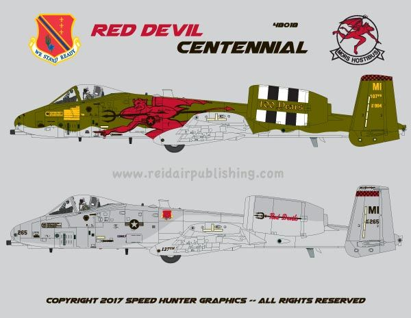 Red Devils Centennial, A-10 Thunderbolt Michigan ANG 100th anniversary special scheme  SHG32009