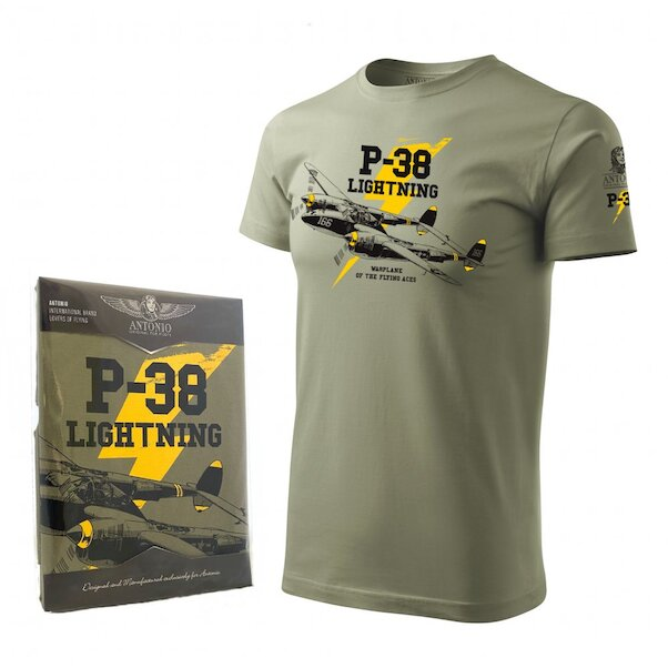 T-Shirt with P-38 LIGHTNING XX-Large  ANT-P38-XXL