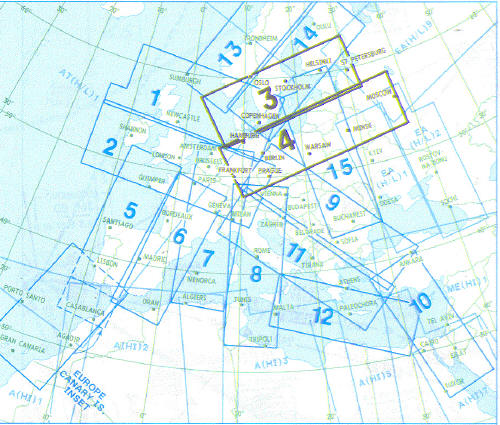 High Altitude Enroute Chart Europe HI 3/4: South Sweden, South Finland, Denmark, Poland, West Russia E(HI)3/4  E(HI)3/4