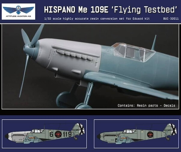 Messerschmitt Bf109E-1 with Hispano Suiza Engine conversion set for Hasegawa kit  buc32011