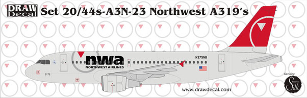 A319 (Northwest New Colours)  20-A3N-23