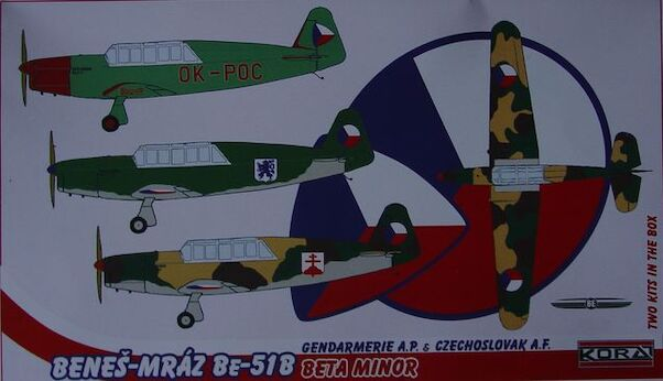Benes-Mraz Be51B Beta Minor (Czech AF and Police) 2 kits included  72166