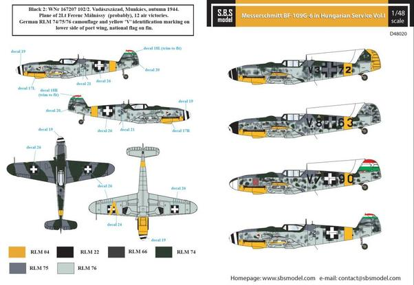 Messerschmitt Bf109G-6 Hungarian Air Force Vol 1  SBSD48020