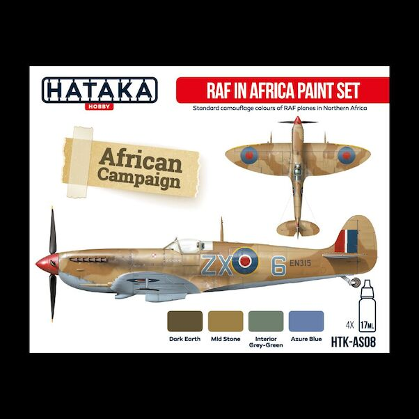 Royal Air Force in Africa paint set (4 colours) Optimised for Brushpainting !  HTK-BS08