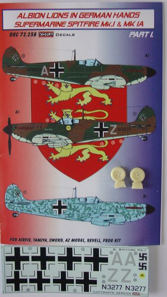 Albion Lions in German hands: Spitfire MKI and MKIa part 1  KDEC72258
