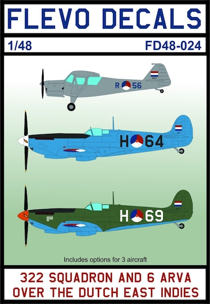 322sq and 6 Arva over the Dutch East Indies (LAST STOCKS)  FD48-024
