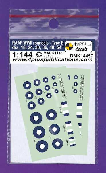 RAAF WWII roundels Type B (thick ring), 2 sets  DMK14457
