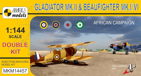 Beaufighter MKI/MKVI  and Gloster Gladiator MKII in African Campaign (2 kits included)  MKM14457