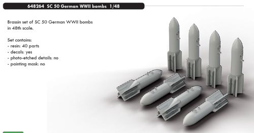German SG50 WW2 Bombs (8x)  E648264