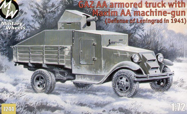 GAZ-AA Russian Armoured Truck (4 wheel) with Maxim Anti Aircraft gun (Defence of Leningrad 1941)  7244
