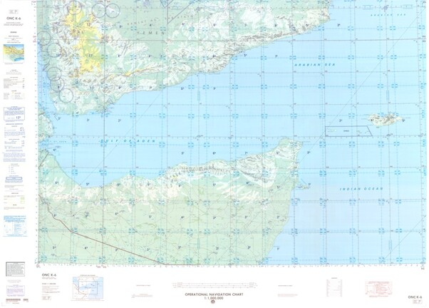 ONC K-6: Available: Operational Navigation Chart for Yemen, Somalia, Ethiopia. Available ! additional charts available within five working days. E-mail your requirements.  ONC K-6