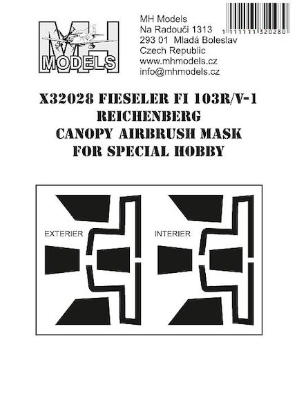 Fieseler Fi103R/V1 Reichenberg canopy Airbrush Masks for Special Hobby  X32028