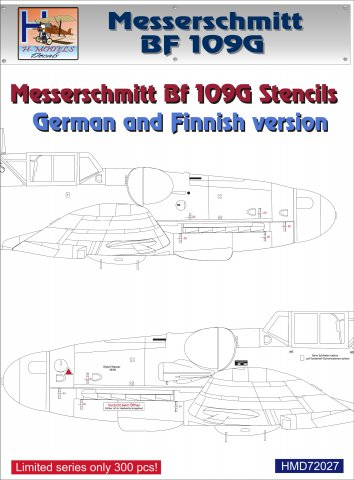 Messerschmitt BF109G stencils, German and Finnish  HMD72027