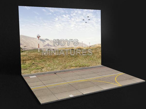 Airbase Tarmac sheet IDF/AF Airbase set V1 with concrete wall  72191