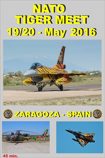 NATO Tiger Meet 19/20 May 2016 Zaragoza - Spain  DVD-ZARAGOZA