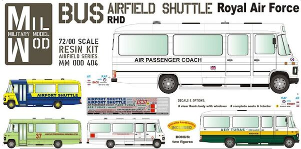 Mercedes Benz LP608 Bus Airfield shuttle (Royal Air Force, Aer Turas,)  (MilMod Military Models MM000-404)