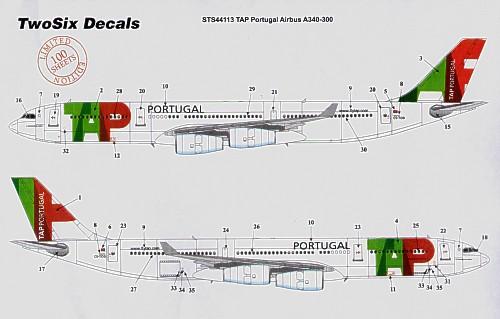 airbus a340 300 (tap poprtugal) aviationmegastore com