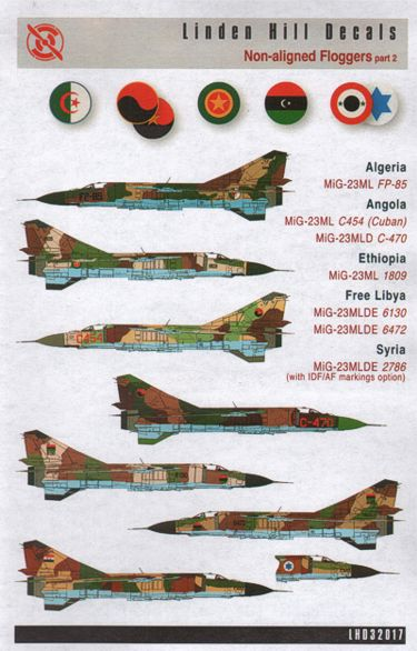 Mikoyan MiG23 'Non Aligned Floggers part 2  LHD32017