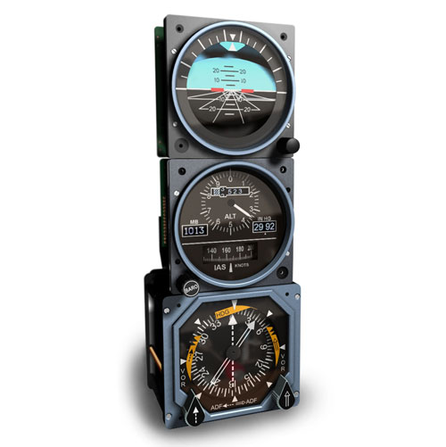 B737 Standby Instruments set - Profesional Version (GSA-055 usb interfase required)  GSA-SBIP