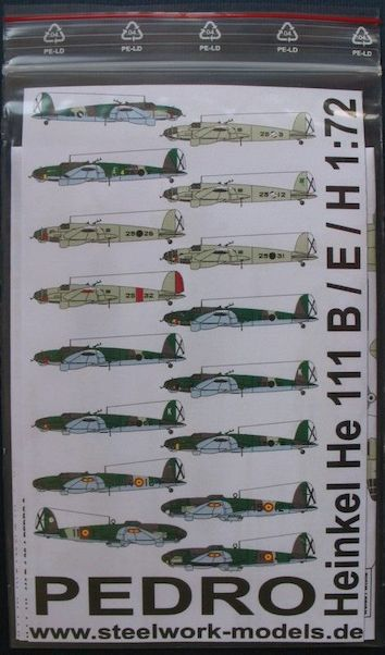 Decal Heinkel He111 E/B/H Pedro  sd7201