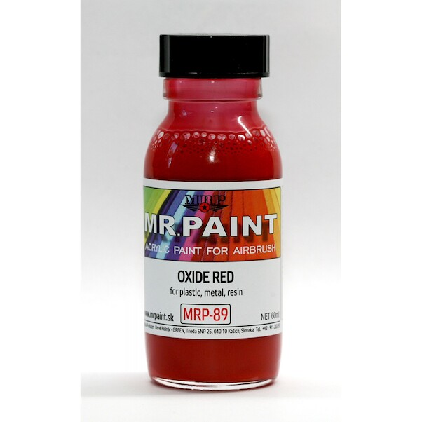 MR. Paint Fine surface Primer for Plastic, Metal, Wood and Resin - Oxide red  mrp-89