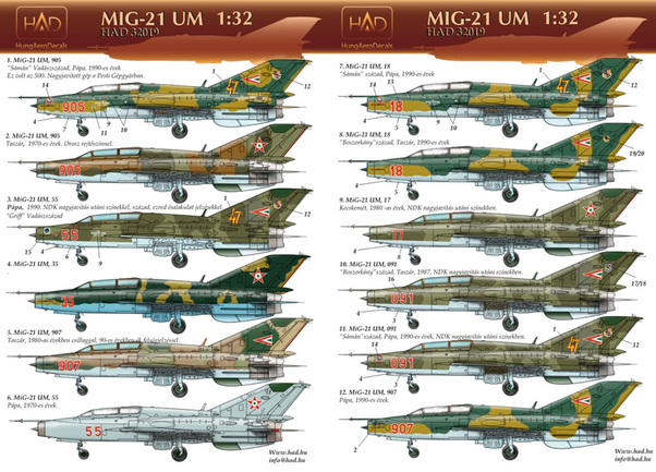 Mikoyan Mig21UM Mongol (Hungarian AF old and new era)  HAD32019