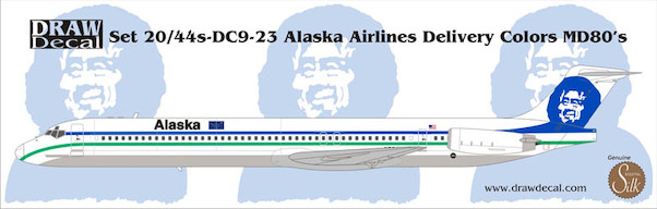 Douglas MD80 (Alaska Airlines Delivery Colours)  44-DC9-23