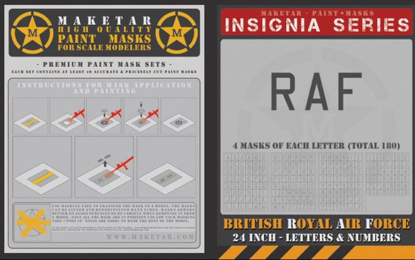 Royal Air Force Code Letters and numbers 24