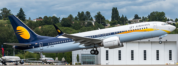Boeing 737-8MAX Jet Airways VT-JXA With Antenna  XX4057