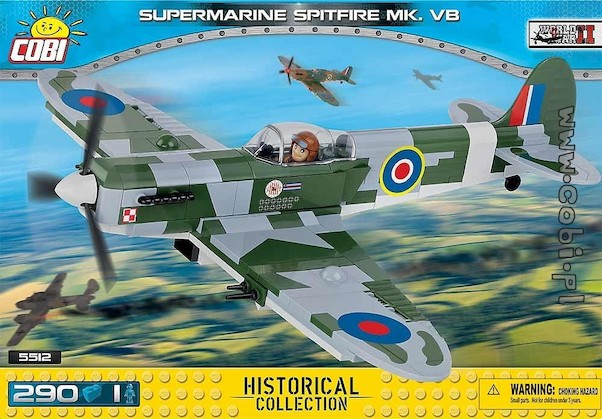 Supermarine Spitfire MKVb  (280 pieces)  5512