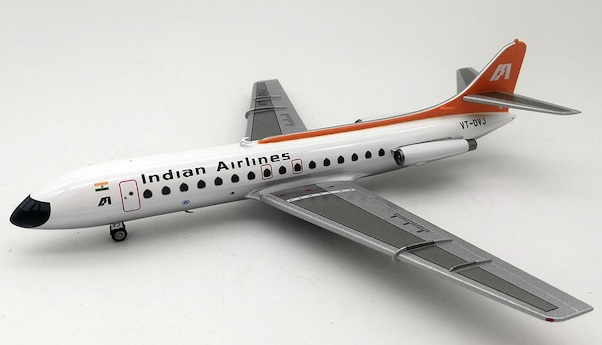 Caravelle SE210 Indian Airlines VT-DVJ With Stand  IF210IC0219