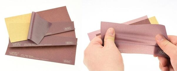 Elastic Sanding Film Coarse 220 grade  (3 sheets included)  IES-0220G