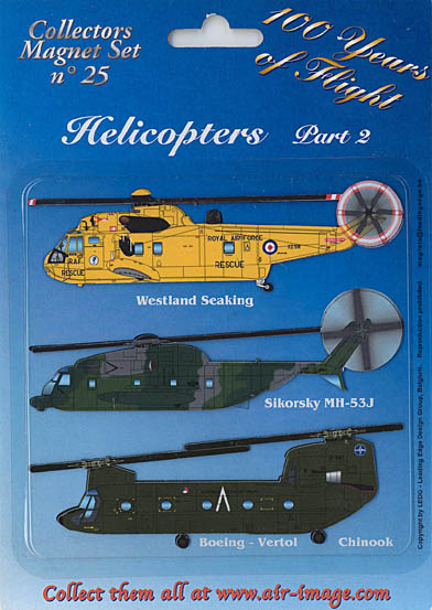 Fridge Magnets set: Helicopters Part 2 - Transport  MAGNETS 25