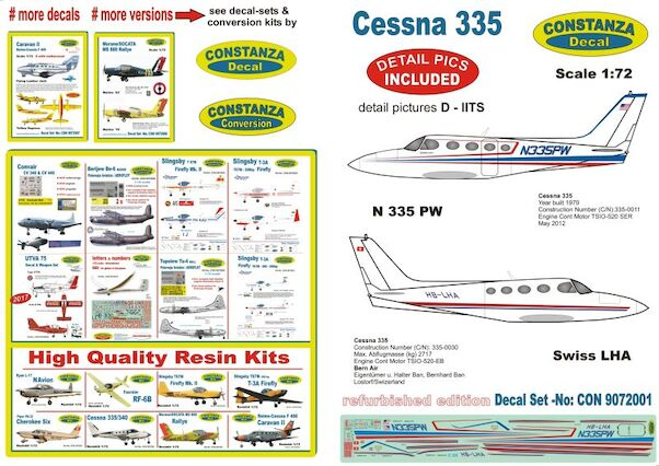 Cessna 335 (HB-LHA, N335PW) Revised!  CON9072001