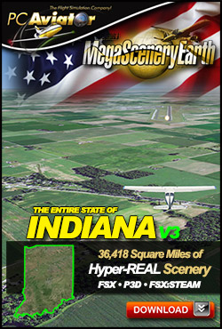 Mega Scenery Earth Version 3, Indiana V3 (Download version)  DL-MSEV3-IN